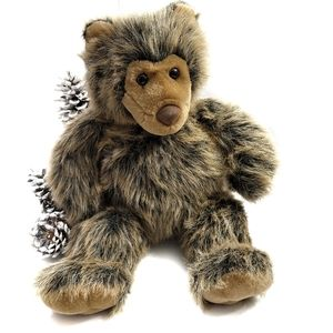 """Rare Build-A-Bear Long Hair Vintage Teddy Bear 19"""""""